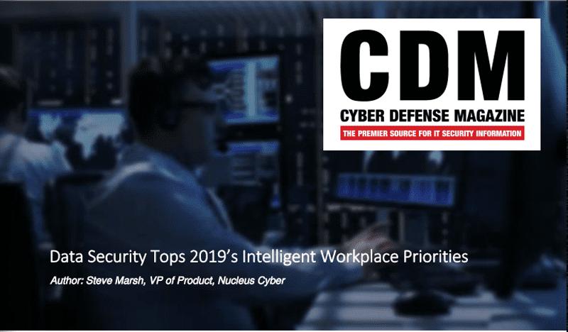 Data Security Tops 2019's Intelligent Workplace Priorities