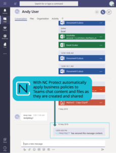 NC Protect Extends Data Protection Capabilities to Microsoft Teams and Yammer