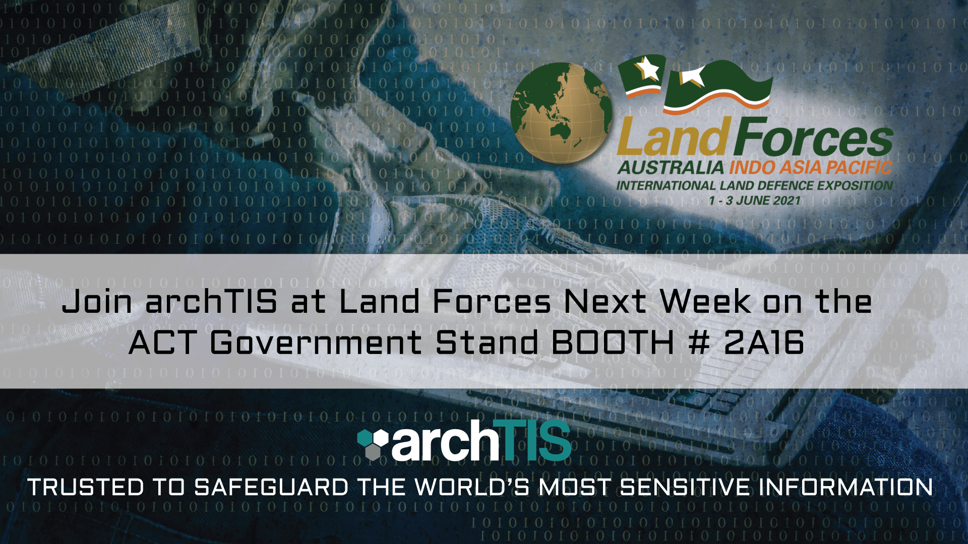 Join archTIS at Land Forces Next Week on the ACT Government Stand