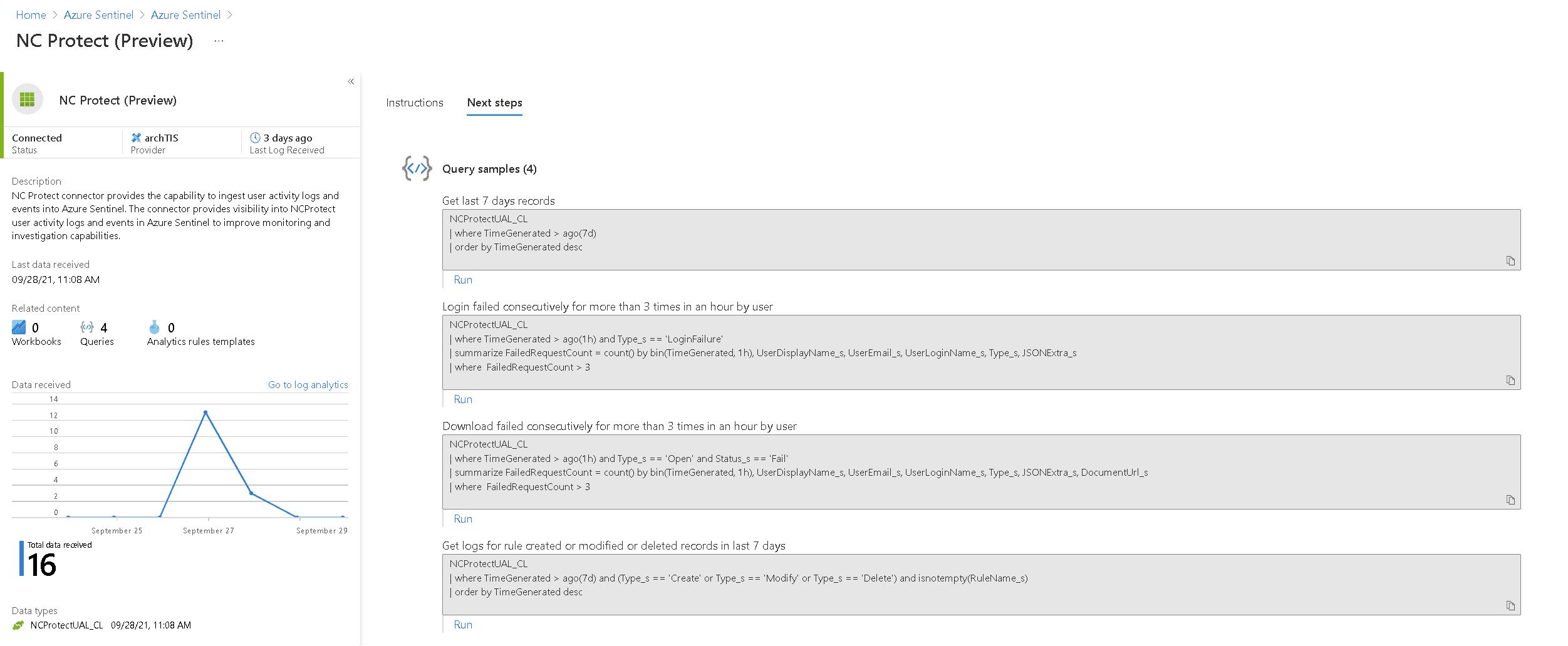 NC Protect Azure Sentinel Integration